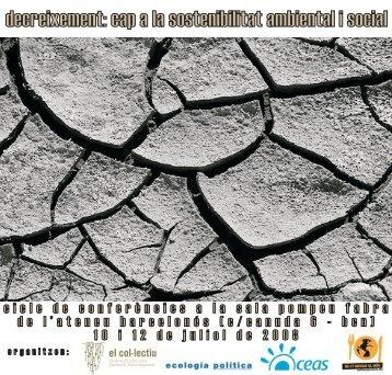 decreixement: cap a la sostenibilitat ambiental i ... - Ecología Política