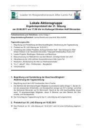 31. LAG-Sitzung am 22.06.2011 - bei Leader im Aller-Leine-Tal