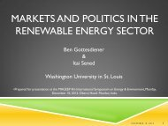 Markets and Politics in the renewable energy sector - mageep ...