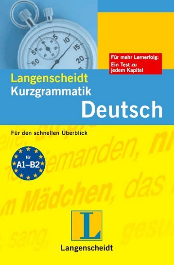 Langenscheidt Kurzgrammatik Deutsch - Deutscher Klub