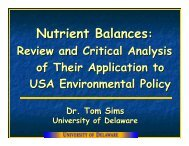 T. Sims - Plant Nutrition Group