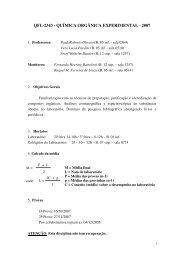 QFL-2343 - QUÍMICA ORGÂNICA EXPERIMENTAL - 2007