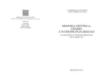 memoria histórica, género e interdisciplinariedad - Dr. Santiago ...
