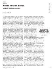 Natura umana e cultura - Pedagogika