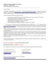GDR 2426 : Physique Quantique Mésoscopique Réunion 5 – 7 ...
