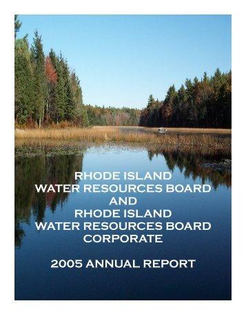 Annual Report 2005 03012006.pub - RI Water Resources Board