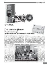 Del cantare gitano - Omaggio a Fabrizio De André