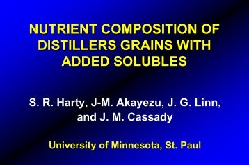 Nutrient Composition of Distillers Grains with Added Solubles