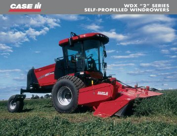 """wdx """"2"""" series self-propelled windrowers - Centre Agricole.ca"""