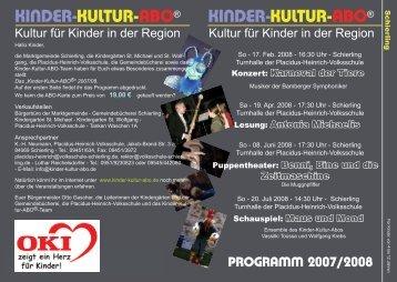 Flyer Schierling - Kinder-Kultur-ABO