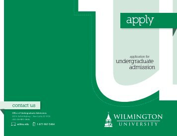 Download the Undergraduate Application for Admission.