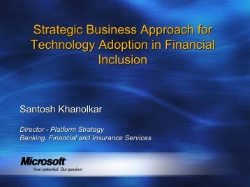 Strategic Business Approach for Technology Adoption in ... - CAB