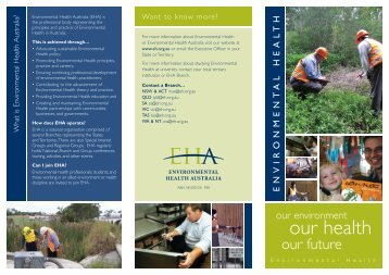 Environmental Health brochure - Upload Student Web Pages