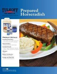 Prepared Horseradish - Tulkoff Food Products
