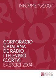Informe 15/2007 - Generalitat de Catalunya