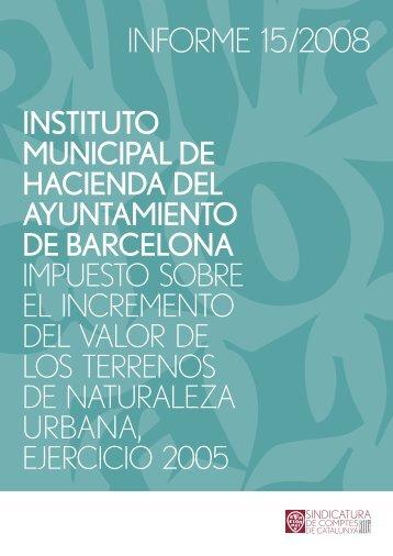 Informe 15/2008