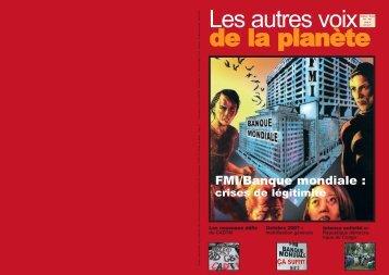 FMI/Banque mondiale : - cadtm