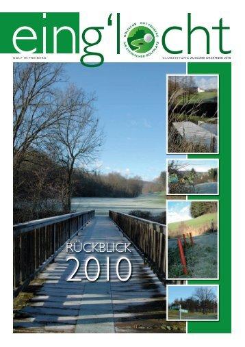 Clubzeitung Dezember 2010 - Golfclub Gut Freiberg