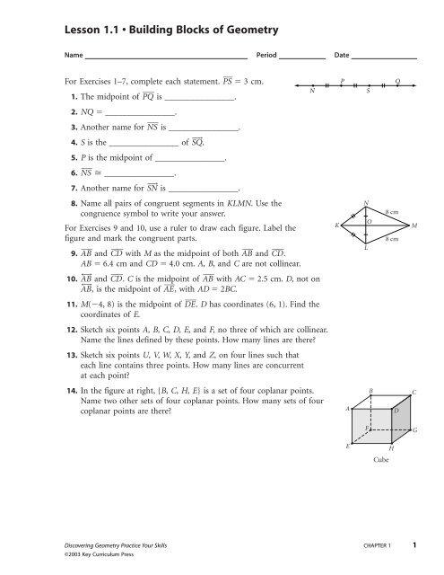 Bestseller: Discovering Geometry Workbook Answers