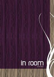 In-Room Dining Menu - Novotel London West