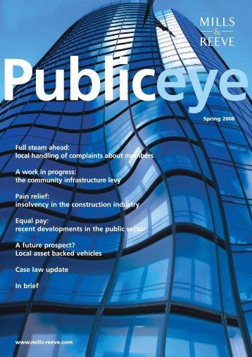 Public Eye - Spring 2008 - Mills & Reeve