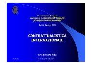CONTRATTUALISTICA INTERNAZIONALE