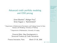 Advanced credit portfolio modeling and CDO pricing - Finance ...