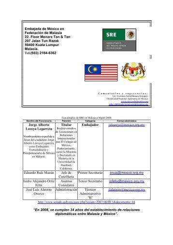Malasia - México Diplomático