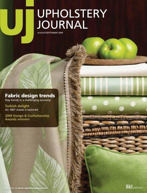 Upholstery Journal, August September 2009, Digital Edition