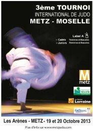 Tournoi de Metz dossier 2013 - Fédération Française de Judo