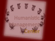 Stakeholder Dialogue - Humanistic Management Center