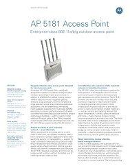 AP-5181 Access Point - Spec Sheet - Motorola Solutions