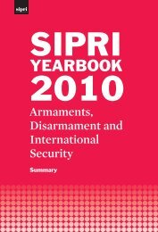 SIPRI Yearbook 2010: Armaments, Disarmament and International ...
