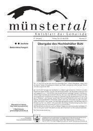 Übergabe des Hochbehälter Bühl - Münstertal