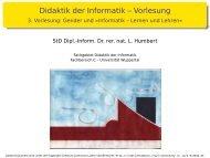 Präsentation zur Vorlesung Didaktik der Informatik ...