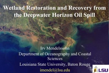 Mississippi River Delta Complex - Restore America's Estuaries