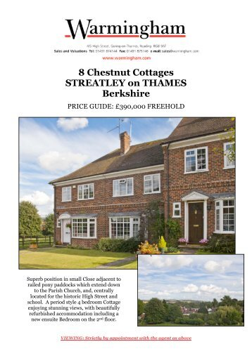 8 Chestnut Cottages STREATLEY on THAMES ... - Warmingham
