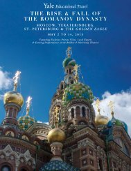 THE RISE & FALL OF THE ROMANOV DYNASTY - Yale University