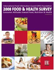 (IFIC) Foundation 2008 FOOD & HEALTH SURVEY Consumer ...