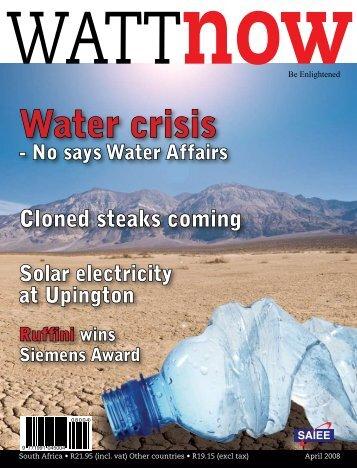 Water crisis - Watt Now Magazine