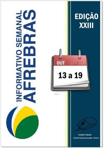 Informativo Semanal Afrebras 2012 - 13.10 a 19.10