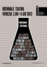 VENEZIA 2.08>11.08 2013 - La Biennale di Venezia