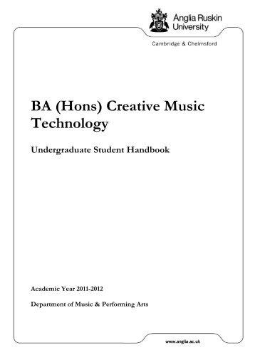 BA (Hons) Creative Music Technology - My.Anglia Homepage ...