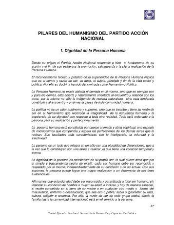 pilares del humanismo del partido acción nacional - Instituto ...
