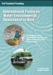 International Forum on Water Environmental Governance in ... - WEPA