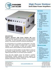 Solid State Power Amplifiers