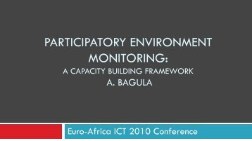 PARTICIPATORY ENVIRONMENT MONITORING: - EuroAfrica-ICT