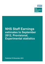 NHS Staff Earnings - Health Service Journal
