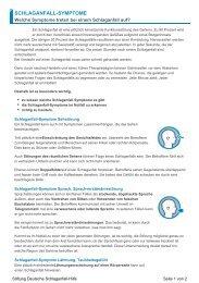 SCHLAGANFALL-SYMPTOME - Kinder- und Hausarztpraxis