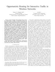 Opportunistic Routing for Interactive Traffic in Wireless ... - CiteSeerX